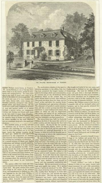 The Philipse Manor-House at Yonkers.