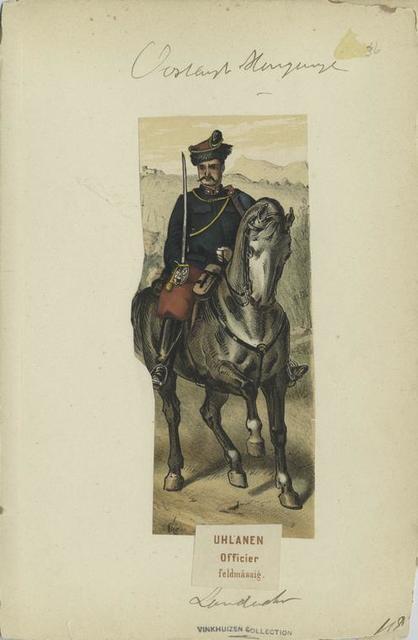 Uhlanen: Officier (feldmässig). Landwehr.