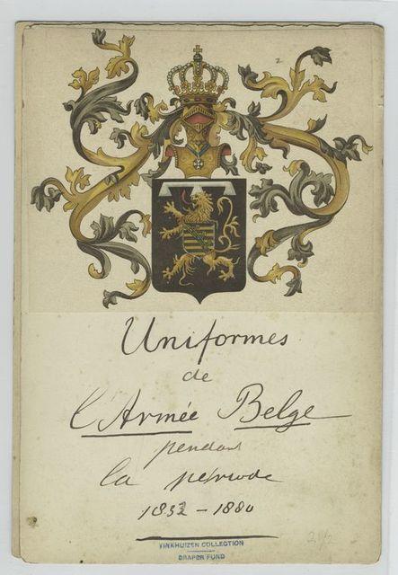 Uniforms de l'armée belge pendant la periode 1831 - 1880