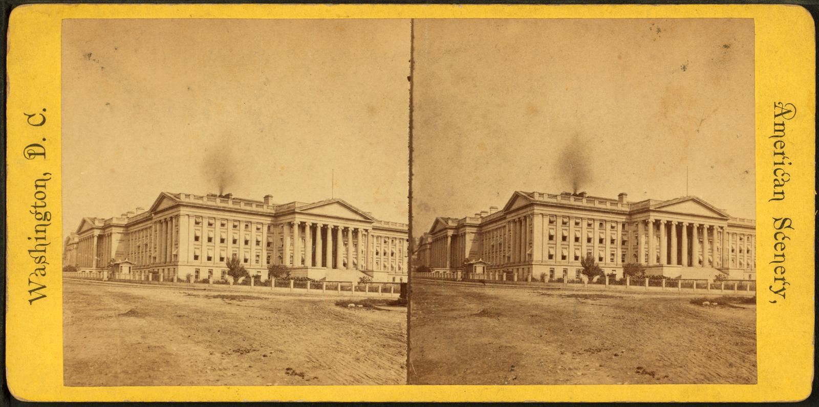 U.S. Treasury from Southwest Corner.