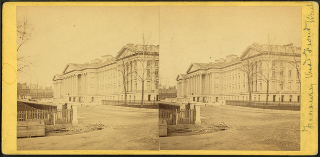 [View of building and street scene.]