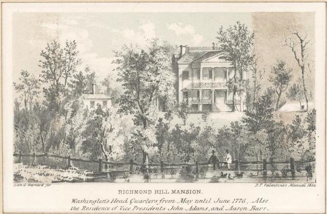 [Washington's Head Quarters from May until June 1776--Also the Residence of Vice Presidents John Adams, and Aaron Burr.]
