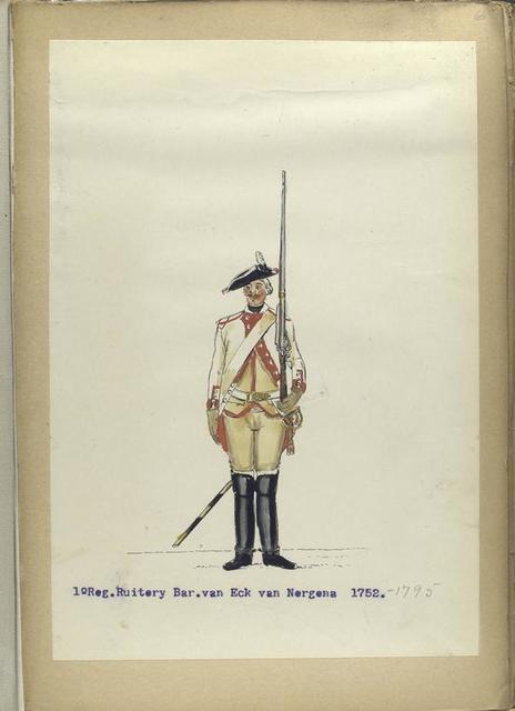 1-o Reg. Ruitery Bar. Van Eck van Nergena. 1752-1795