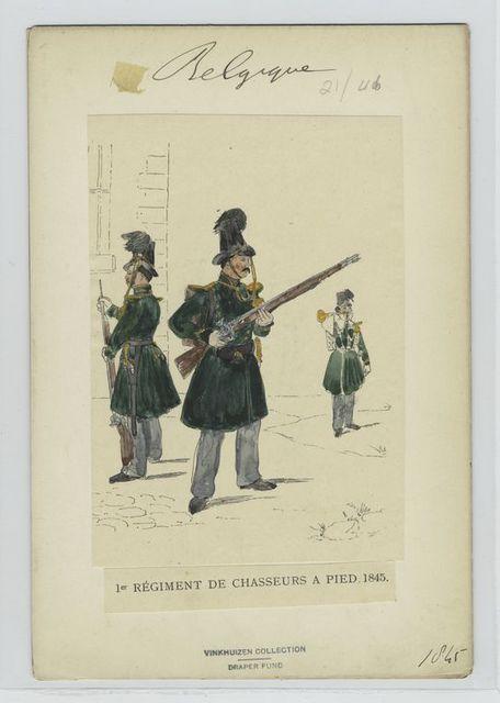 1er régiment de chasseurs a pied. 1845