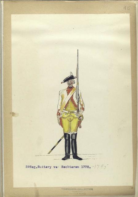 3-o Reg. Ruitery van Rechteren. 1778-1795