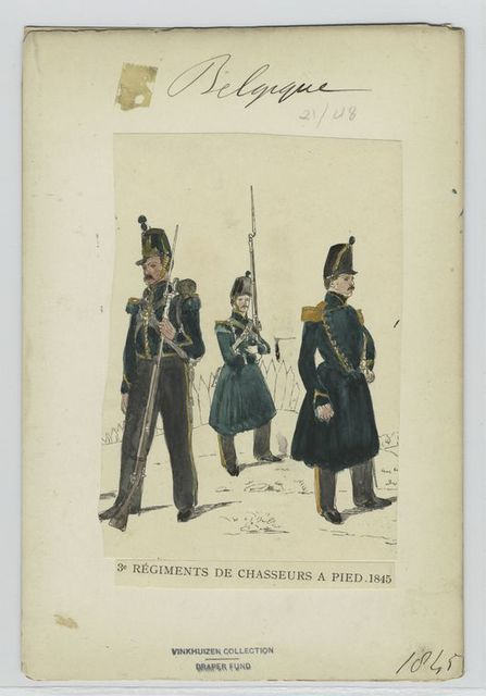 3e régiment de chasseurs à pied. 1845