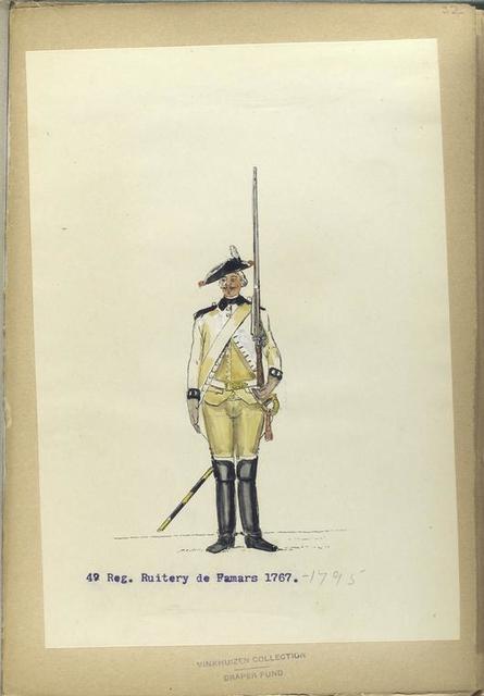 4-o Reg. Ruitery de Famars [Damars?]. 1766- 1795