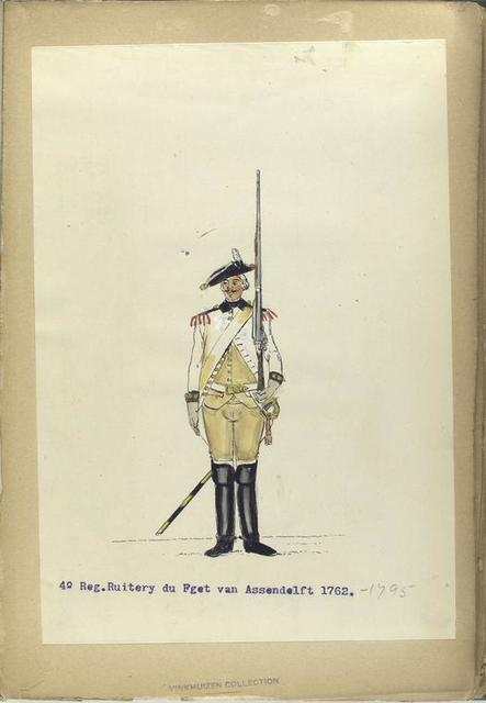 4-o Reg. Ruitery du Fget [?] van Assendelft. 1762-1795