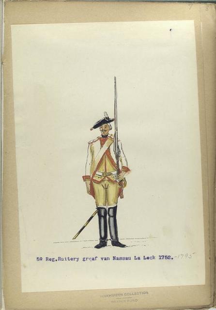 5-o Reg. Ruitery graaf van Nassau La Leck. 1752-1795