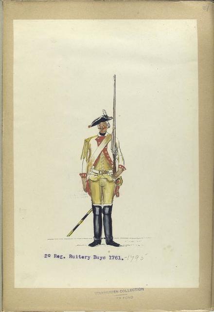 5-o Reg. Ruitery graaf van Nassau La Leck. 1762-1795