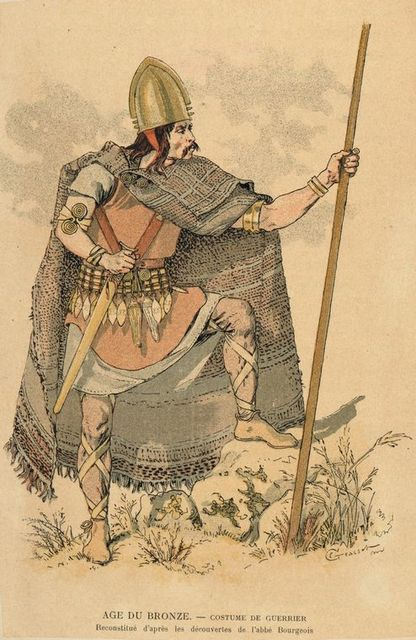 Age du Bronze : costume de guerrier.