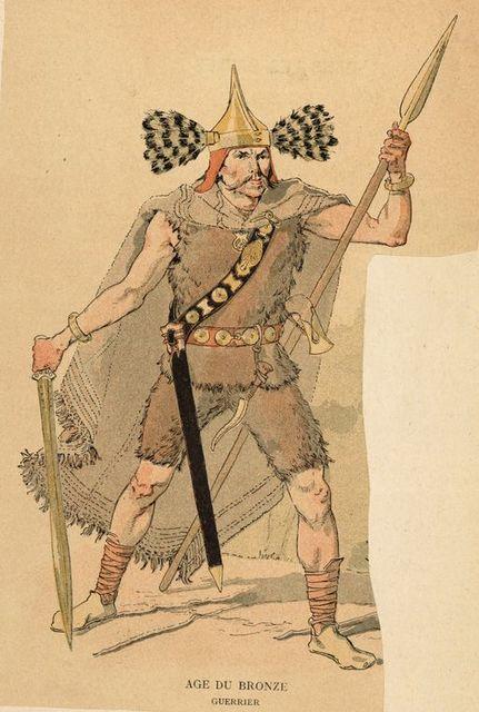 Age du Bronze : guerrier.