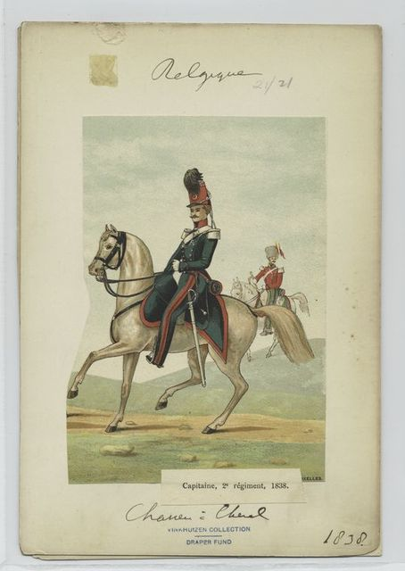 Captaine, 2e régiment, 1838.