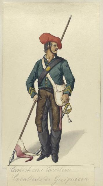 Carlistische Cavalerie. Caballeria de Guipuscoa. 1835