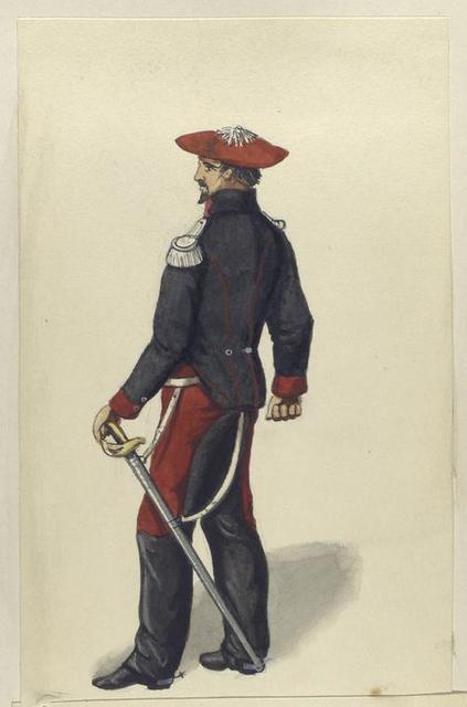 Carlistische Cavalerie. Dragones de Alava, Officier. 1835