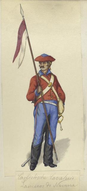 Carlistische Cavalerie. Lanceros de Navarra. 1835