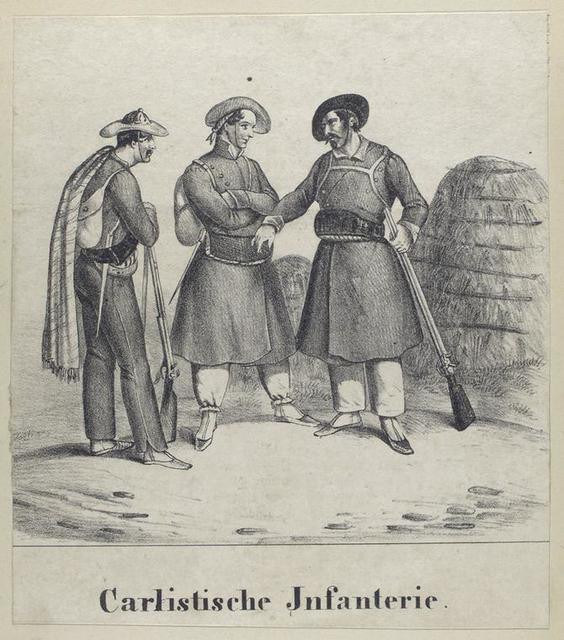 Carlistische Infanterie. 1836