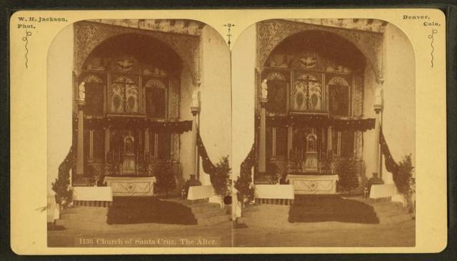 Church of Santa Cruz, the alter.