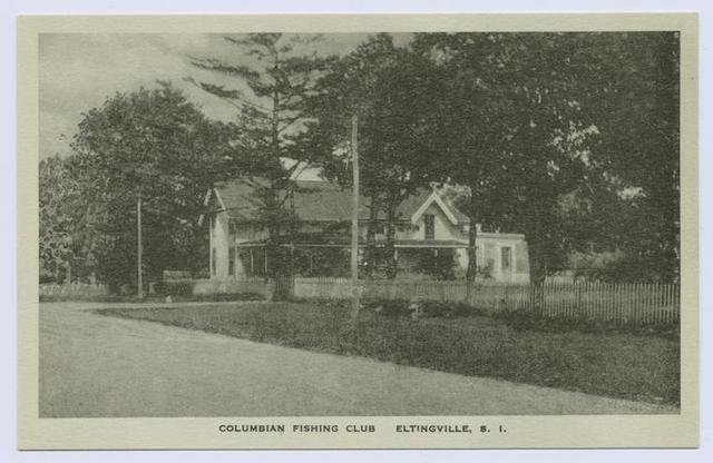 Columbian(sic) Fishing Club, Eltingville, Staten Island