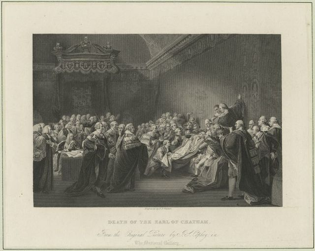 Death of the Earl of Chatham.