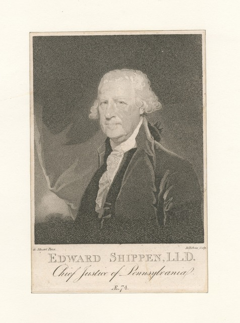 Edward Shippen, L.L.D. Chief Justice of Pennsylvania.