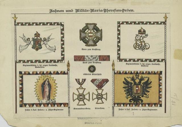 Fahnen und Militär Maria Thersien Orden