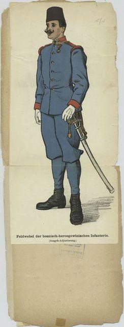 Feldwebel der bosnisch-hercegowinischen Infanterie (Ausgeh-Adjustierung)