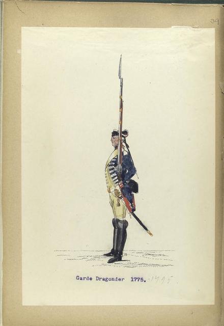 Garde Dragonder. 1772-1795