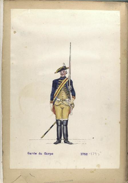 Garde du Corps. 1752-1795