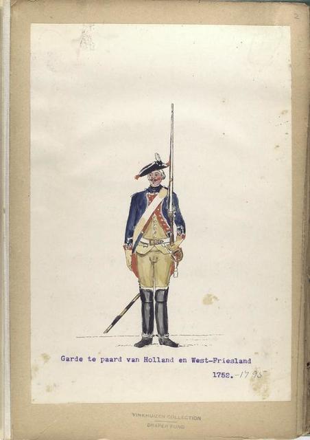 Garde te paard van Holland en West-Friesland. 1752-1795