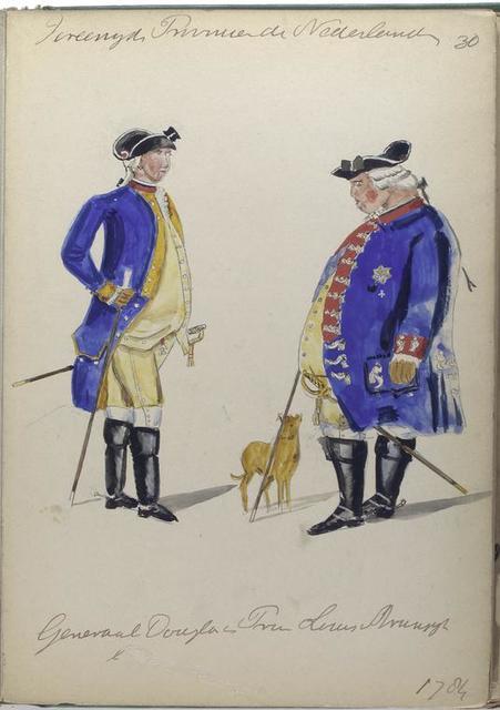 Generaal Douglas en Prins Louis  . 1784