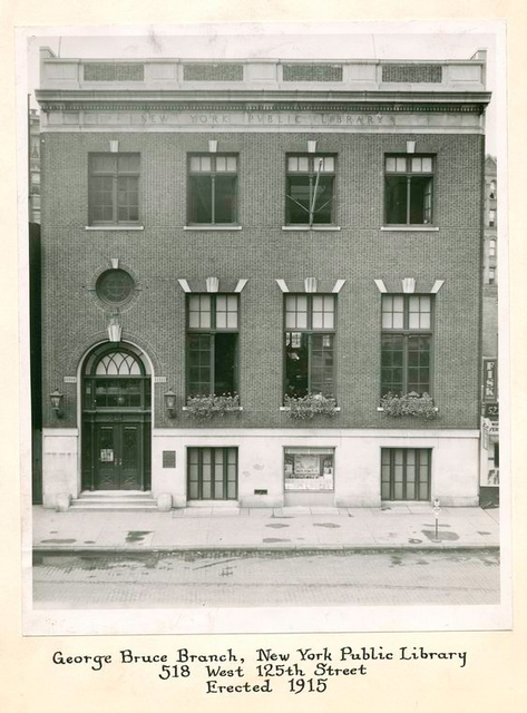George Bruce Branch, New York Public Library, 518 West 125th Street, Erected 1915