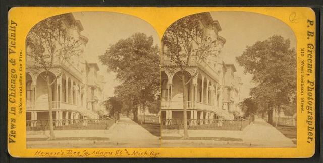 [Homes at Michigan Avenue and Adams Street.]