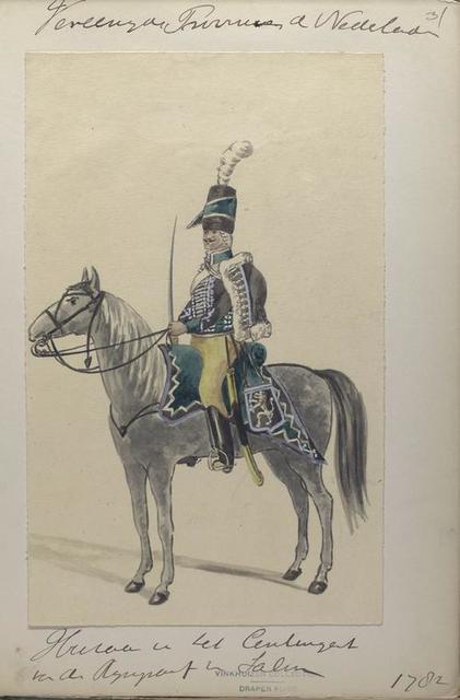 Huzaar van het Centigent. van der Rijngraaf van Salm. 1782