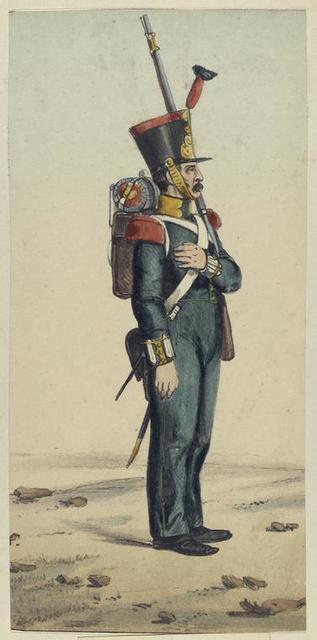 Infanteria ligera. 1830