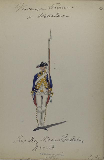 Infanterie Regiment Baden Baden, R. no. 13. 1784