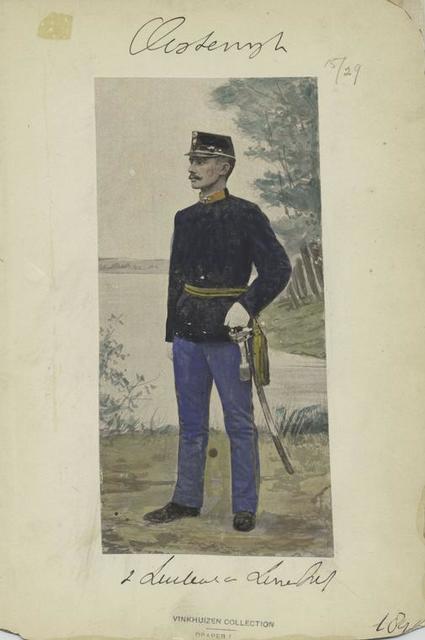 Infanterie [?] v Linie Reg [?]