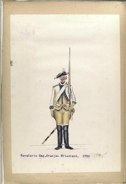 Kavalerie Reg. Oranje-Friesland. 1752-1795