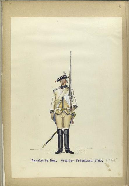 Kavalerie Reg. Oranje-Friesland. 1760-1795