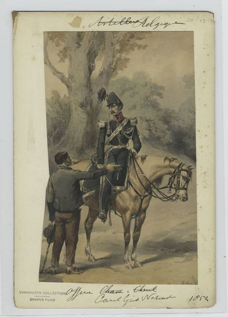Officier, cavalerie garde nationale