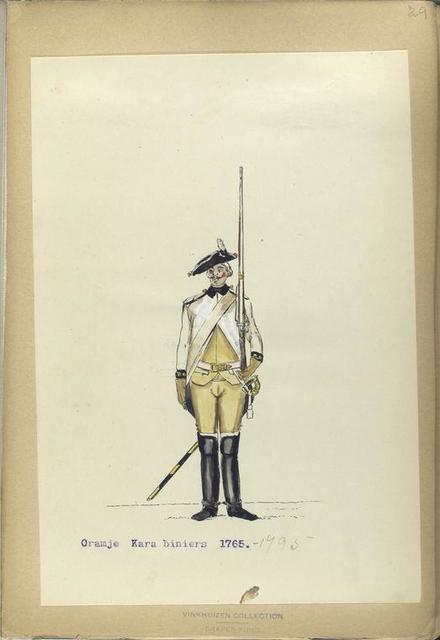 Oranje Karabiniers. 1765-1795