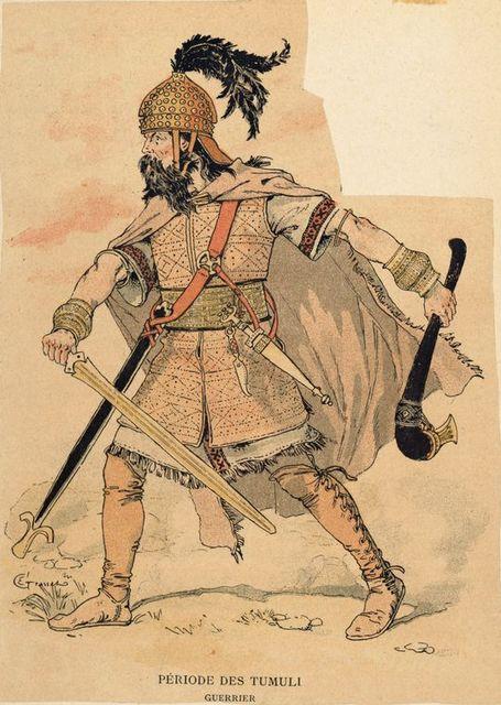 Periode des Tumuli : guerrier.