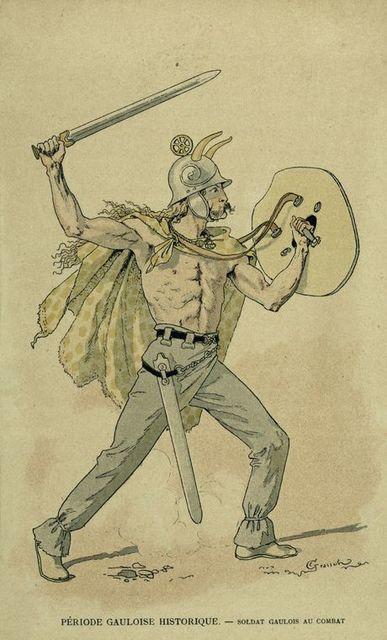 Période Gauloise Historique : soldat Gaulois au combat.