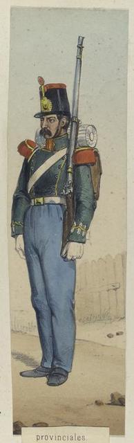 Provinciales. Granadero. 1841