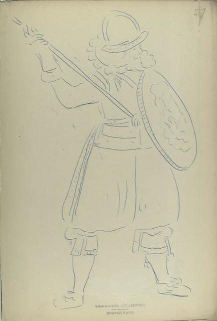 [Soldier with shield and lance.]