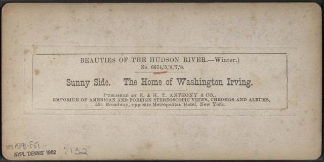 Sunny Side, The Home of Washington Irving. [Winter.]