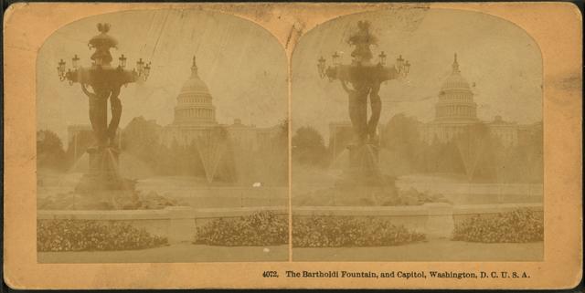 The Bartholdi Fountain and Capitol, Washington, D.C.
