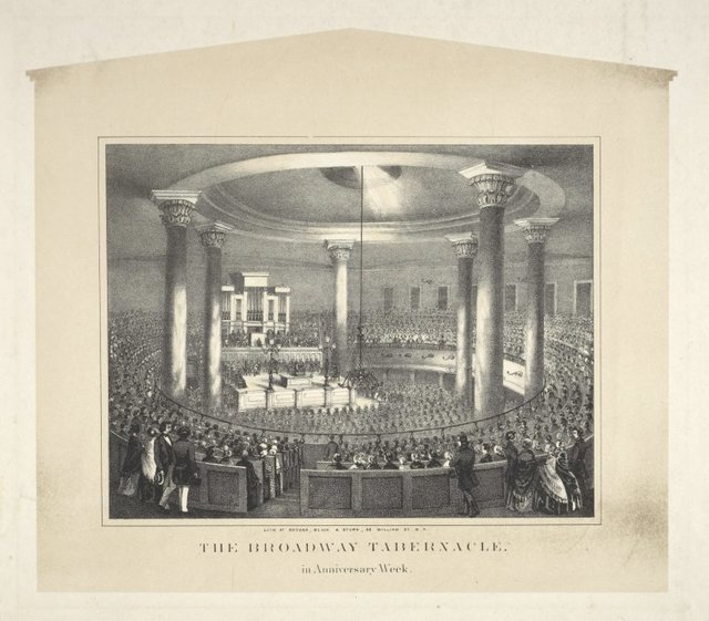 The Broadway Tabernacle. In Anniversary Week