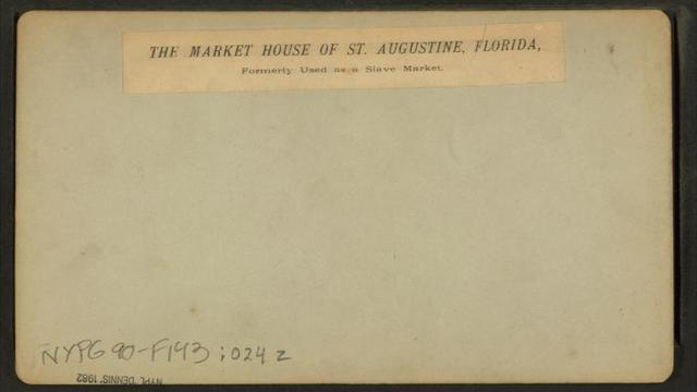 The Market House of St. Augustine, Florida, formerly used as a Slave Market.