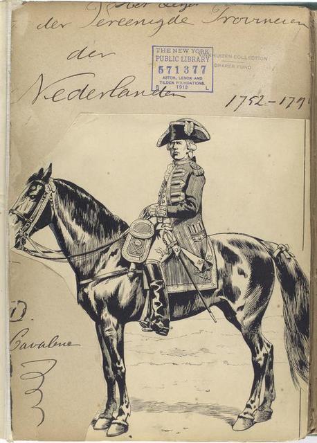 Title page Het Leger van de Vereenigde Provincien der Nederlanden  1752-1795.  D. Cavalerie